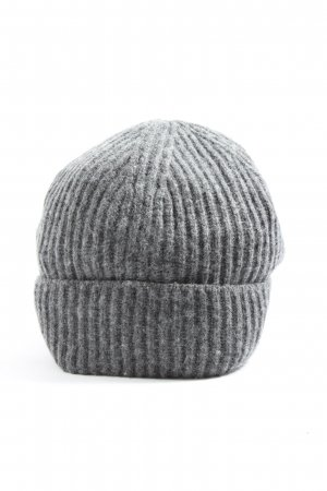 H&M Berretto grigio chiaro puntinato stile casual