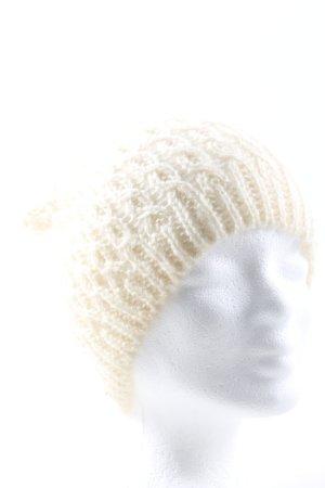 H&M Bonnet blanc cassé torsades style décontracté