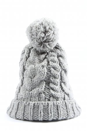 H&M Beanie light grey cable stitch casual look