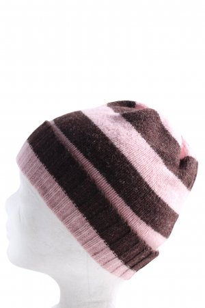H&M Beanie brown-pink striped pattern casual look