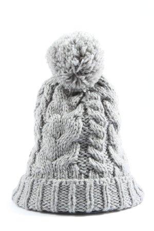 H&M Berretto grigio chiaro punto treccia stile casual