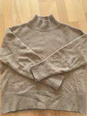 H&M Pullover a maglia grossa marrone chiaro-beige