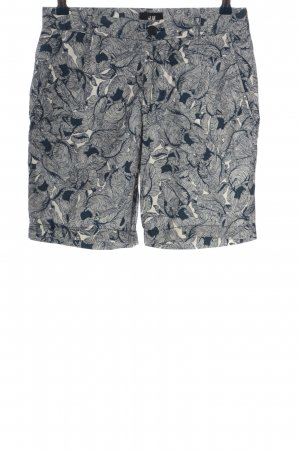 H&M Bermudas blue-white abstract pattern casual look
