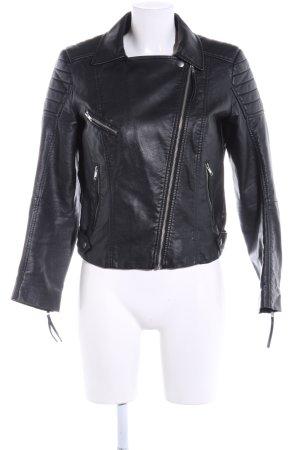 H&M Veste motard noir style décontracté