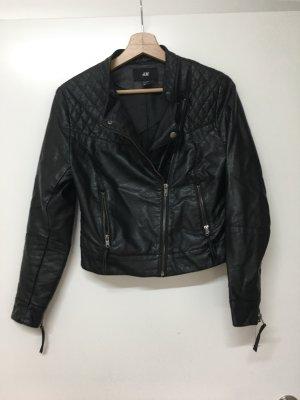 H&M / Bikerjacke aus  in schwarz