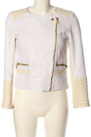 H&M Bikerjacke weiß-creme Casual-Look