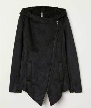 H&M Veste motard noir faux cuir