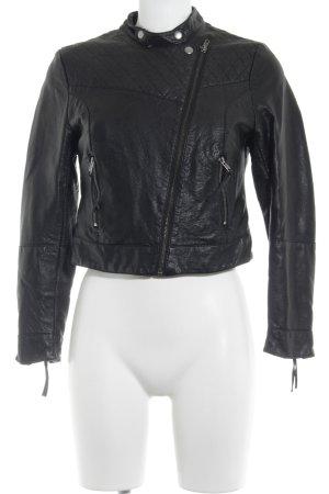 H&M Bikerjacke schwarz Metallelemente