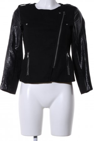 H&M Bikerjacke schwarz Business-Look