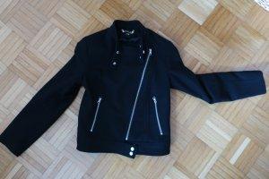 H & M Bikerjacke schwarz Größe 36 mit Wollanteil