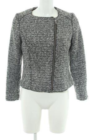 H&M Bikerjacke schwarz-weiß meliert Casual-Look