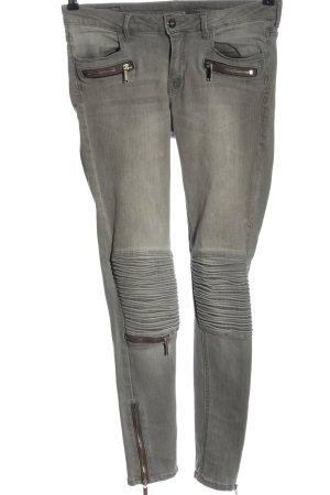 H&M Jeans de moto gris clair style décontracté