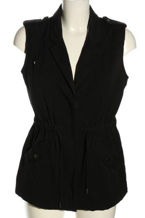 H&M Biker vest zwart casual uitstraling