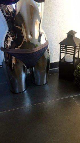 H&M Bikini Slip - Neu und ungetragen, grau meliert Gold metallic