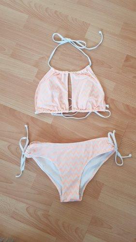 H&M Bikini biały-jasny pomarańczowy