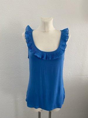 H&M Top met franjes blauw-neon blauw Katoen