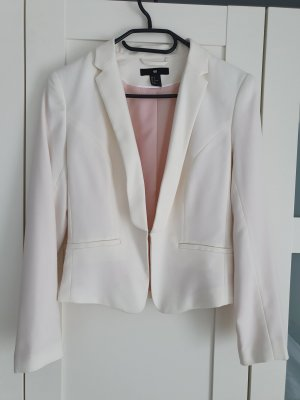 HM Tweed Blazer white-dusky pink