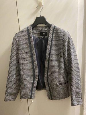 H&M Blazer de esmoquin gris-azul acero