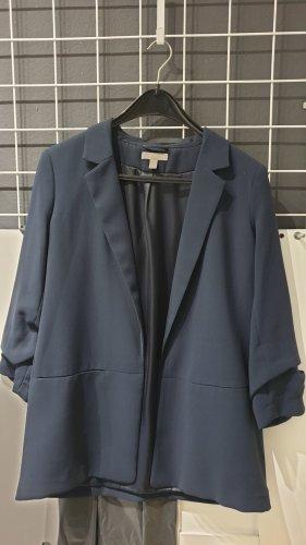 H&M Lange blazer donkerblauw