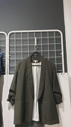H&M Lange blazer donkergroen