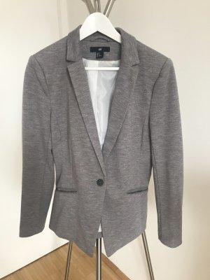 H&M Blazer de tela de sudadera gris