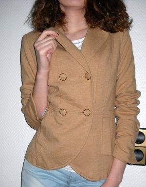 H&M Blazer Boyfriend Jacke camel camelfarben Jersey Doppelreiher 34 36 XS S TOP