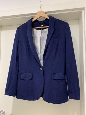 H&M Jersey Blazer dark blue-blue