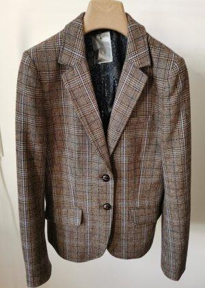 H&M Korte blazer azuur-grijs-bruin
