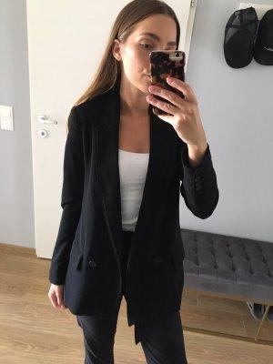 H&M Blazer Doppelreiher Oversize Schwarz XS