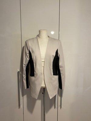 H&M Blazer Gr.46 Kunstleder Jacke schwarz beige