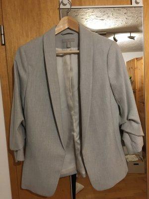 H&M Blazer largo gris claro
