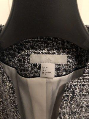 H&M Blazer Tweed blanco-azul oscuro