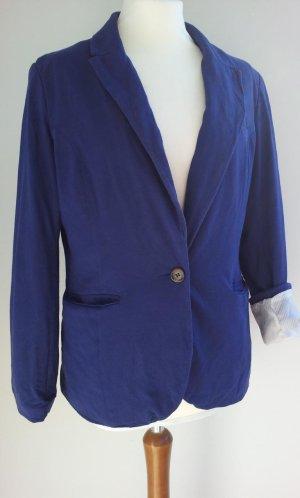 H&M Blazer in 44 (40/42), Kobalt-Blau, Jersey & Pattentaschen