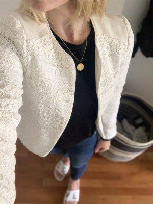H&M Jersey Blazer natural white
