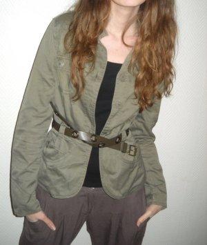H&M Blazer Jacke khaki grün Boyfriend Military Knopfleiste XS S 32 34 36 Blogger