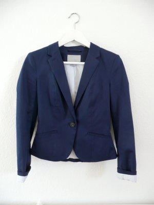 H&M Korte blazer blauw-wit