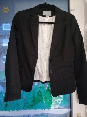 H&M Klassischer Blazer czarny-kremowy