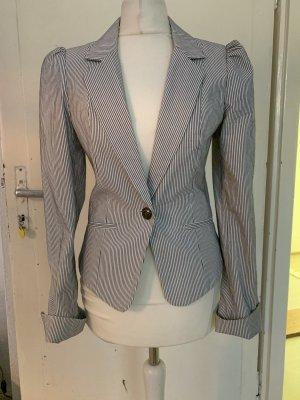 H&M Unisex blazer wit-donkerblauw