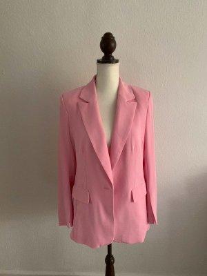 H&M Blazer rosa pink Büro Business BusinessBlazer Jacke Größe M L 38 40