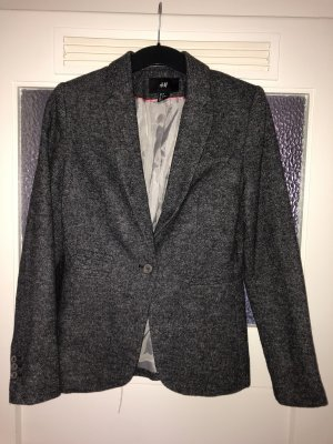 H&M Wool Blazer black-grey polyester
