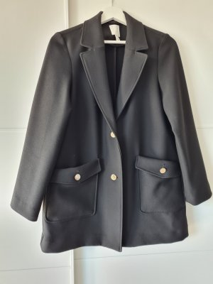 H&M Blazerjacke, oversize, schwarz, Gr.XS