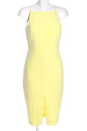 H&M Abito longuette giallo pallido stile casual