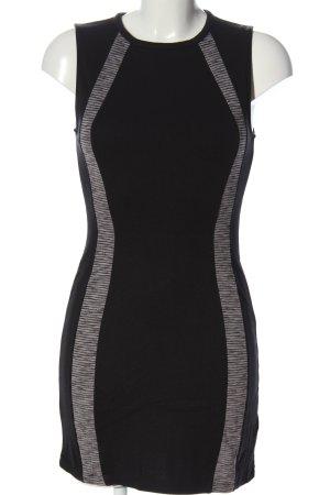 H&M Bleistiftkleid schwarz-hellgrau Streifenmuster Casual-Look