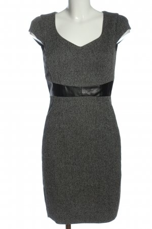 H&M Bleistiftkleid weiß-schwarz Allover-Druck Casual-Look