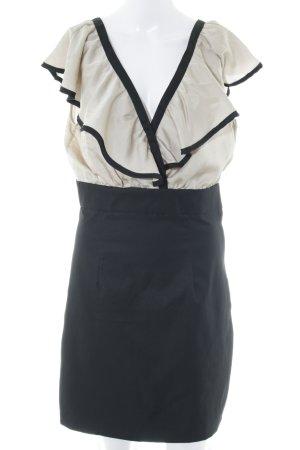 H&M Bleistiftkleid schwarz-creme Elegant