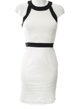 H&M Bleistiftkleid weiß-schwarz Elegant
