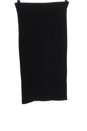 H&M Bleistiftrock schwarz schlichter Stil