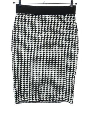 H&M Bleistiftrock weiß-schwarz Casual-Look