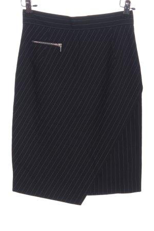 H&M Bleistiftrock schwarz Streifenmuster Business-Look