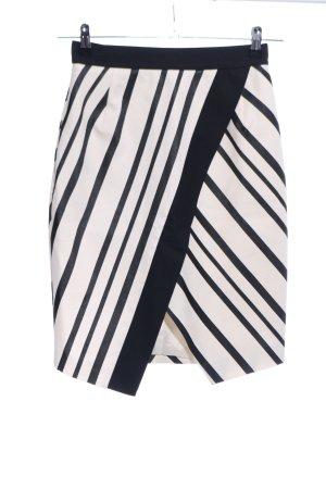H&M Ołówkowa spódnica czarny-kremowy Wzór w paski W stylu casual